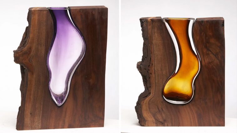 scott slagerman studio fy 5 758x426 - Scott Slagerman Studio Creates Elegant Glass Vases Inside Pieces Of Wood