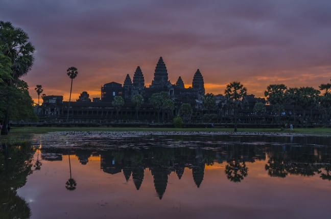 I traveled to 32 Countries...in 2017 -travel, Sunrise, Ruins, Cambodia, Asia, Angkor Wat, 7 Wonders