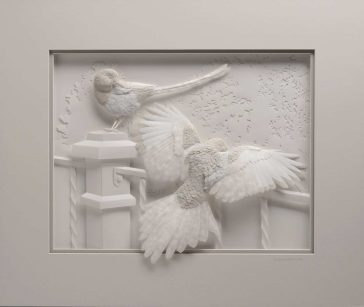 Realistic Paper Sculptures of Animal's Portraits by Calvin Nicholls -sculptures, paper sculptures, paper, gohome