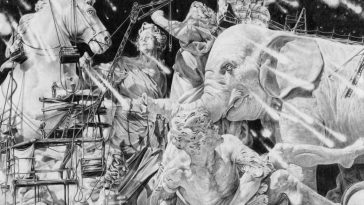 clement fourment 4 364x205 - High-Detailed Illustrations portray Abstract Monochrome Dreamscapes by Clément Fourment