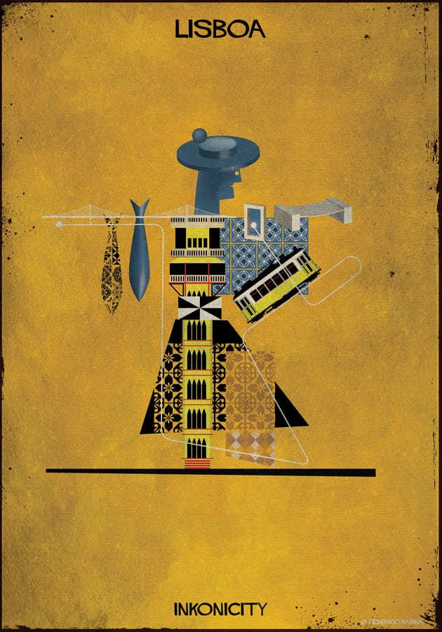 Various Character Illustrations Made From Iconic Figures of Their Popular Cities by Federico Babina -illustrations, city