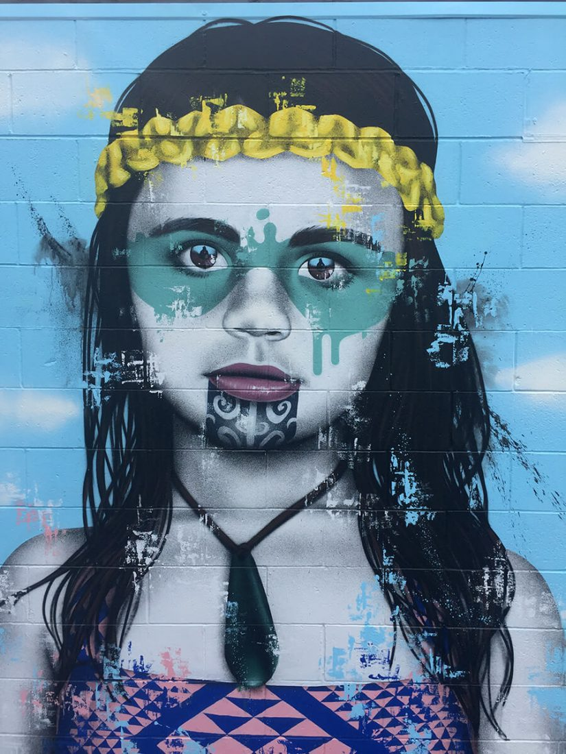 New Traditional Maori Murals in Mount Maunganui & New Zealand by Fin DAC -street-artist, street art, murals, gohome