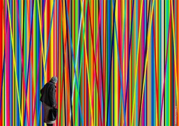 A Photographer Frames Ordinary People in Stunning and Vibrant Patterns -patterns, artist, architecture
