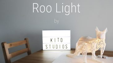 Australian Wildlife Lamp - Roo Light -roo light, lamp, kitostudios, kickstarter, home decor, design, australia, architecture, animal, 3d printing