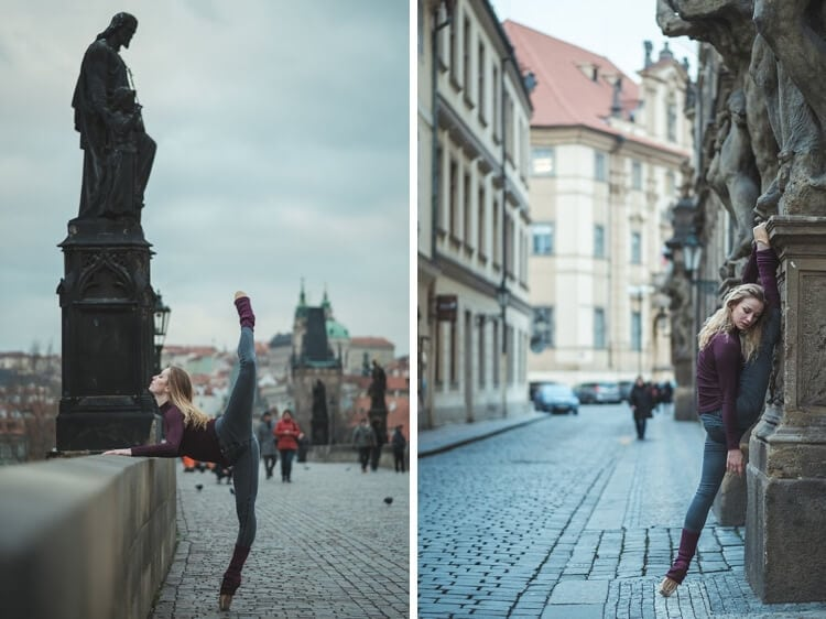 Fascinating Dance Photography On The Historic Streets of Prague by Omar Z. Robles -prague, gohome, dancers, czech republic