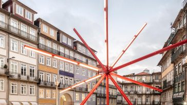 Giant Lighting Installation In Historic Square of Porto by Diogo Aguiar -portugal, porto, installations, installation, gohome