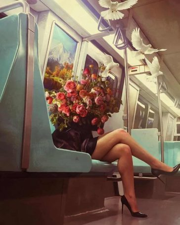 Dreaming Surreal Illustrations By Turkish Artist Aykut Aydogdu -Turkey, illustrations, gohome, girls