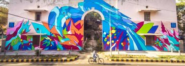 Vibrant Colorful Urban Walls At Market In Delhi By Bicicleta Sem Freio -street art, murals, mural