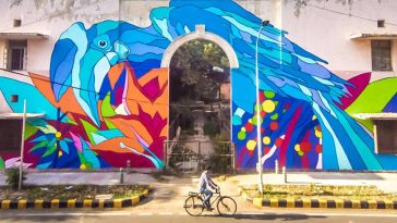 Vibrant Colorful Urban Walls At Market In Delhi By Bicicleta Sem Freio -street art, murals, mural, gohome