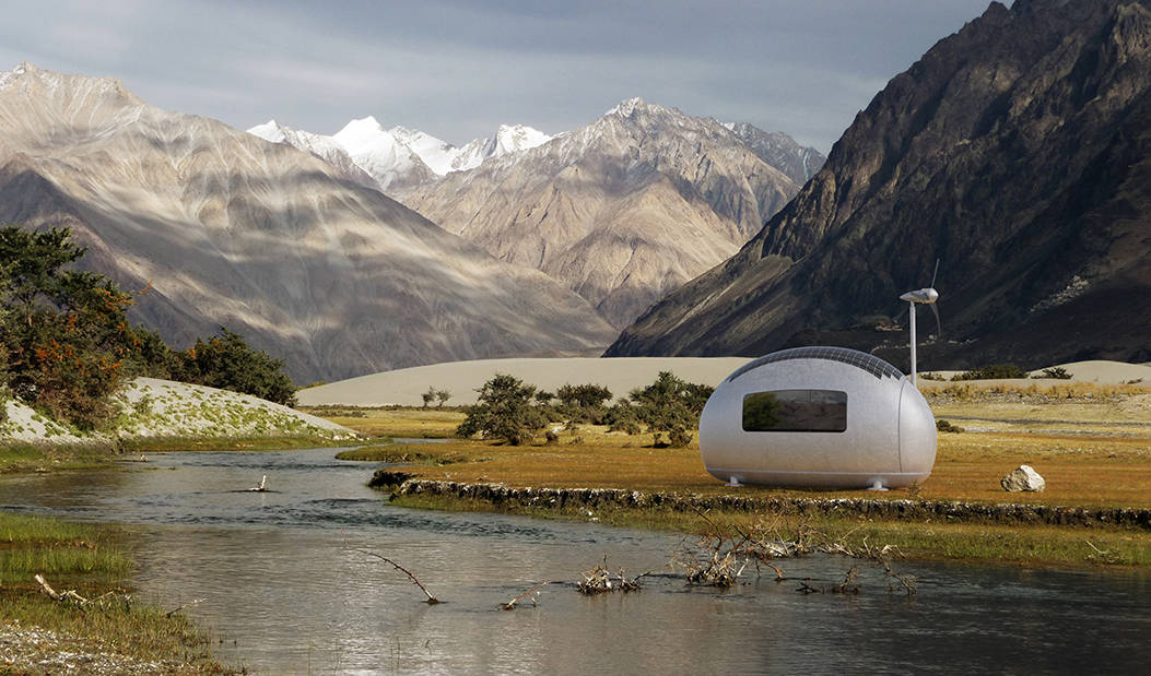 Egg-shaped Micro Home Lets Residents Live Off-Grid -off-grid, micro, home
