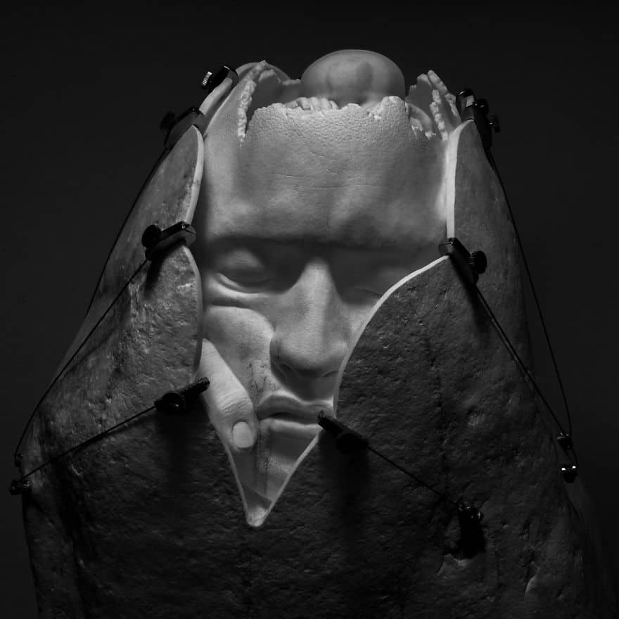 An Artist Creates Realistic Michelangelo Inspired Sculptures -stone, sculptures, sculpture, marble, Italy, gohome, black and white