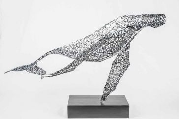 Artist Kang Dong Hyun Constructs Animal Sculptures From a Web of Metallic Twigs -sculpture, metal, animals