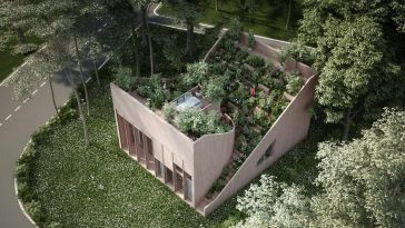Self-Sustaining Yin & Yang House Let's Owners to Grow Food on Its Terraced Roof -house, gohome, germany, austria