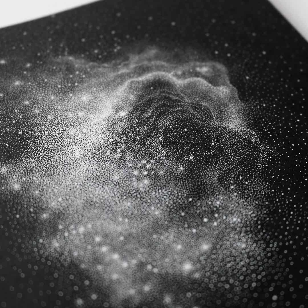 Petra Kostovas Black And White Drawings Of Star-Packed -1235