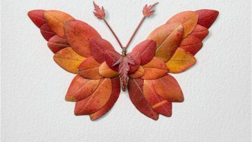 Fascinating Butterflies Moths Created from Seasonal Flowers by Raku Inoue -insects, flower, butterflies