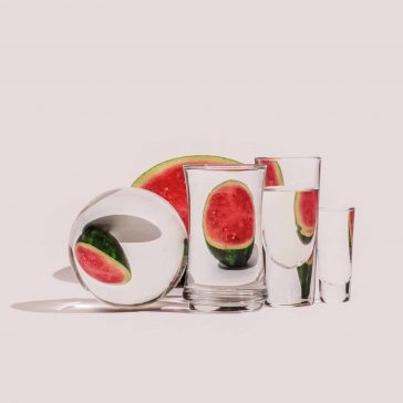 Suzanne Saroff's Photographs of Foods Warped Through Liquid and Glass -water, glass, food