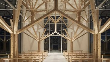Agri Chapel Composed of Tree-like Forms by Yu Momeoda -japan, gohome, constuction, chapel