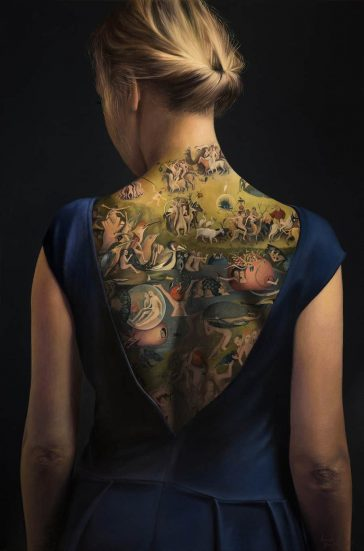 A Polish Artist's Painting of Woman Tattooed With 'The Garden of Earthly Delights' Isn't What It Seems to Be -tattoo, poland, painting, gohome