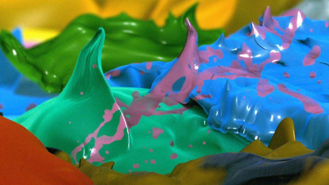 A CGI Animation Takes Viewers on a Journey Across Damien Hirst's Painting -paintings, gif, damien hirst, 3d
