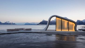 Oslo-based Studio Designed The Most Scenic Toilet Facility -toliet, norway, marble, gohome