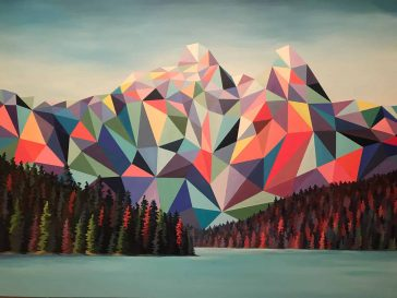 An Artist Reimagines the Vibrant Beauty of Canadian Mountains as Low-Poly Art -mountains, low poly, gohome, canada