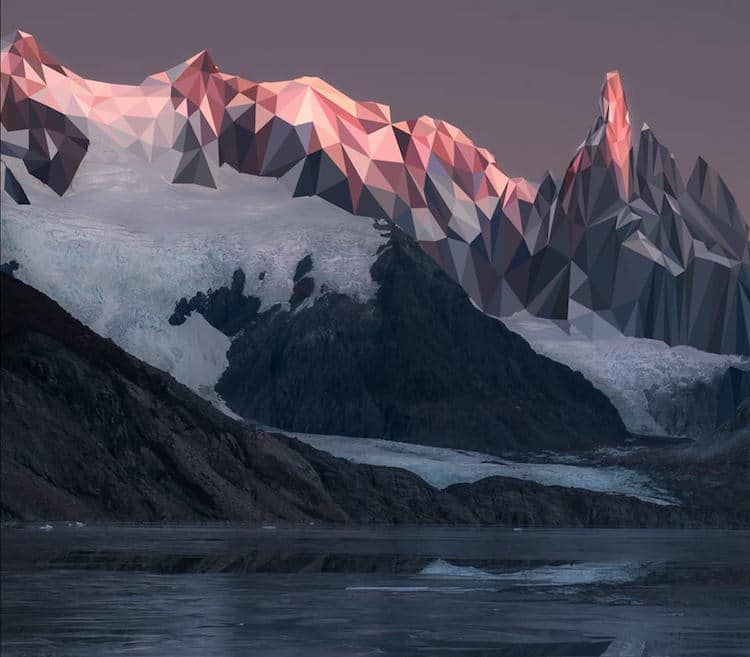 an artist reimagines the vibrant beauty of canadian mountains as low