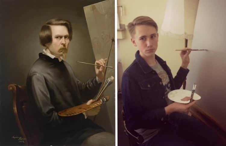 People Are Recreating Iconic Artworks in Real Life for the 'VanGoYourself' Challenge -van gogh, Renaissance, paintings
