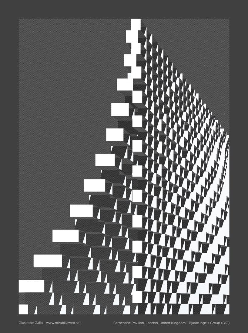 These Nine Posters Illustrate the Language of Bjarke Ingels' Projects -posters, gohome, architecture