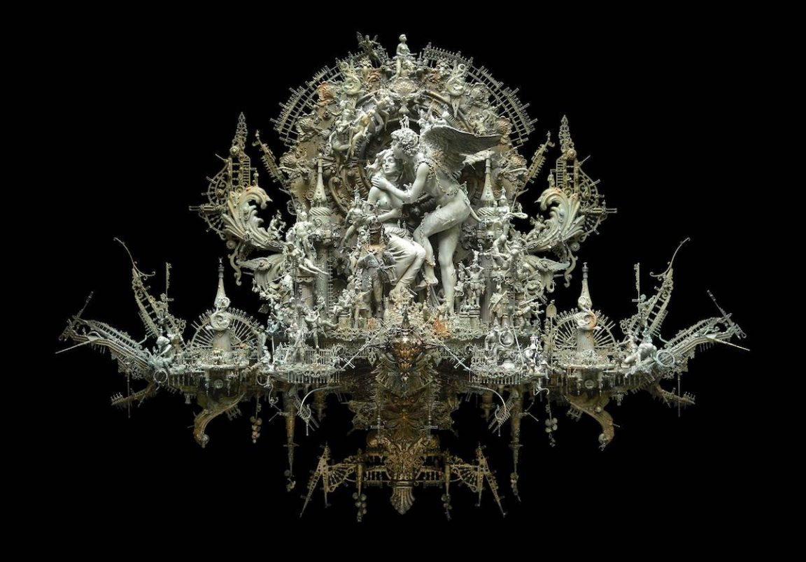 An Artist Assembles Gothic Sculptures From Found Materials -surreal, sculptures, gothic