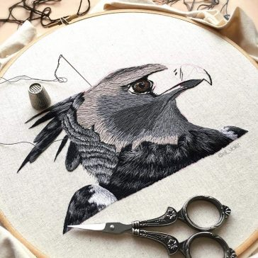 Incredibly Beautiful Bird Embroideries Show Details Of These Amazing Creatures -textile, sewing, gohome, birds