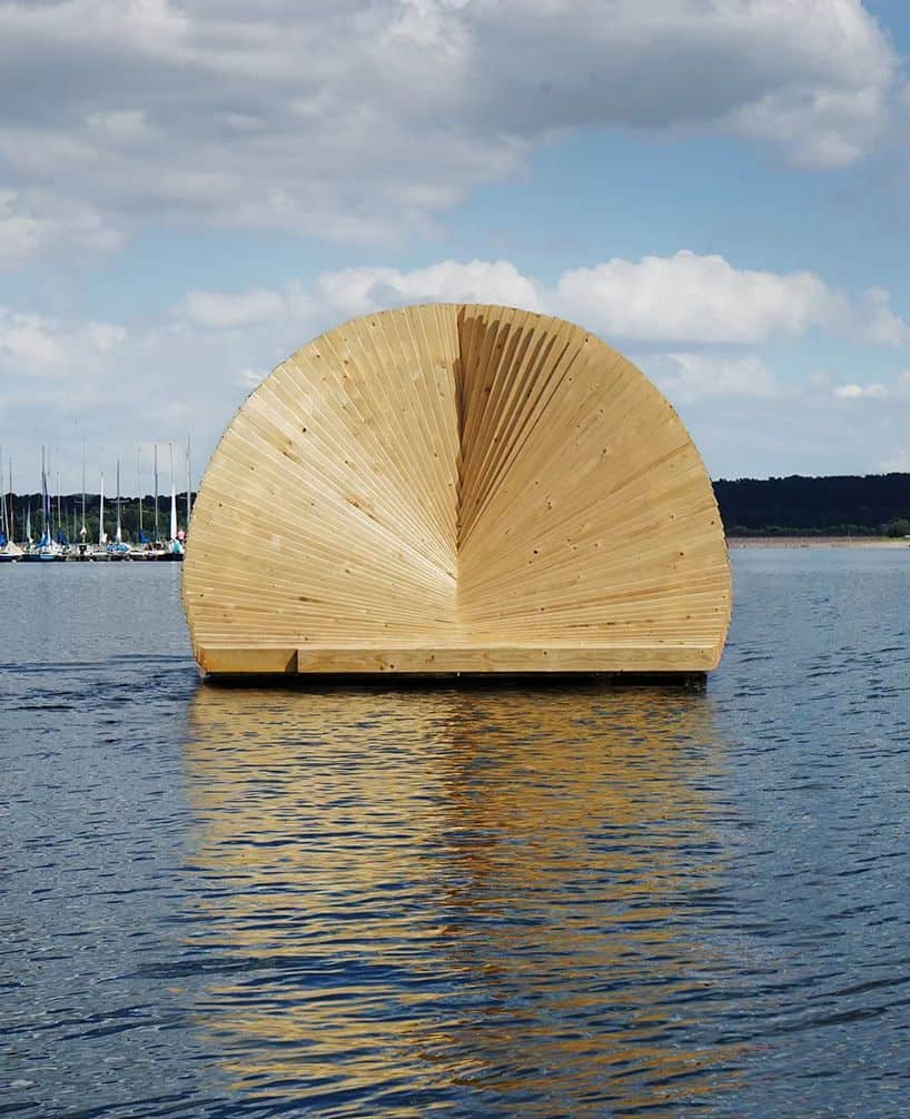 Daewha Kang Design Creates Floating Wooden Structure for an Art Exhibition -structure, installation, gohome, germany