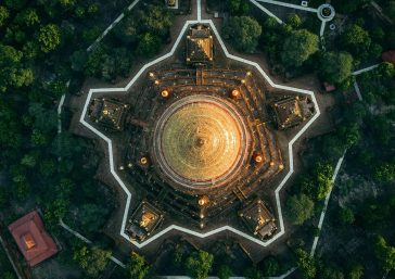 These Astounding Aerial Photos Show The Beauty Of Buddhist Temples in Myanmar -structure, landscapes, gohome, drone, aerial