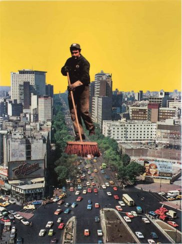 Guillaume Chiron Places Giant Humans into Urban Landscapes in His New Collages -gohome, collages