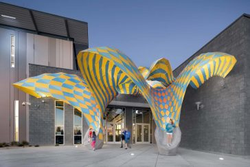 The Very Many Studio Designed Facade of a Colorful Pavilion in Texas -usa, gohome, building